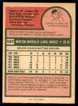 1975 O-Pee-Chee #597  Winston Llenas  Back Thumbnail