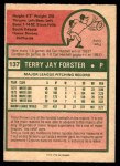 1975 O-Pee-Chee #137  Terry Forster  Back Thumbnail