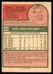 1975 O-Pee-Chee #559  Bob Montgomery  Back Thumbnail