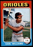 1975 O-Pee-Chee #97  Earl Williams  Front Thumbnail