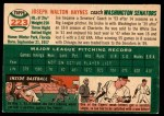 1954 Topps #223  Joe Haynes  Back Thumbnail