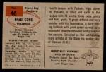 1954 Bowman #46  Fred Cone  Back Thumbnail