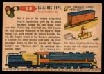 1955 Topps Rails & Sails #88   Electric Type Back Thumbnail