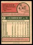 1975 O-Pee-Chee #25  Lee May  Back Thumbnail