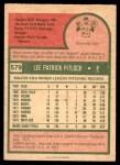 1975 O-Pee-Chee #579  Skip Pitlock  Back Thumbnail