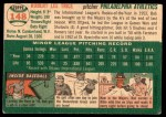 1954 Topps #148  Bob Trice  Back Thumbnail