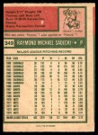 1975 O-Pee-Chee #349  Ray Sadecki  Back Thumbnail