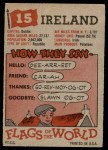 1956 Topps Flags of the World #15   Ireland Back Thumbnail