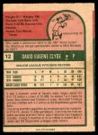 1975 O-Pee-Chee #12  David Clyde  Back Thumbnail