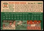 1954 Topps #62  Eddie Robinson  Back Thumbnail