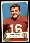 1954 Bowman #55  Frank Gifford  Front Thumbnail