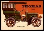 1954 Topps World on Wheels #142   Thomas Limousine 1905 Front Thumbnail