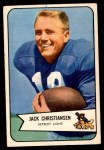 1954 Bowman #100  Jack Christiansen  Front Thumbnail