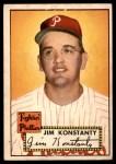 1952 Topps #108  Jim Konstanty  Front Thumbnail
