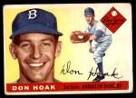 1955 Topps #40  Don Hoak  Front Thumbnail