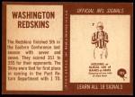 1967 Philadelphia #181  Washington Redskins  Back Thumbnail