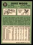 1967 Topps #394  Jake Wood  Back Thumbnail