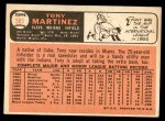 1966 Topps #581  Tony Martinez  Back Thumbnail