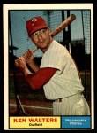 1961 Topps #394  Ken Walters  Front Thumbnail