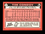 1986 Topps Traded #28 T Tim Conroy  Back Thumbnail