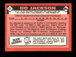 1986 Topps Traded #50 T Bo Jackson  Back Thumbnail