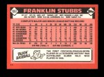 1986 Topps Traded #105 T Franklin Stubbs  Back Thumbnail