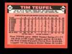 1986 Topps Traded #109 T Tim Teufel  Back Thumbnail