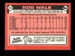 1986 Topps Traded #120 T Bob Walk  Back Thumbnail