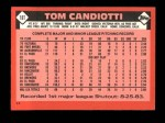 1986 Topps Traded #18 T Tom Candiotti  Back Thumbnail