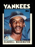 1986 Topps Traded #122 T Claudell Washington  Front Thumbnail