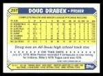1987 Topps Traded #29 T Doug Drabek  Back Thumbnail