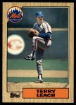 1987 Topps Traded #63 T Terry Leach  Front Thumbnail