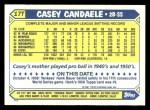 1987 Topps Traded #17 T Casey Candaele  Back Thumbnail