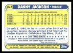 1987 Topps Traded #51 T Danny Jackson  Back Thumbnail