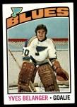 1976 Topps #168  Yves Belanger  Front Thumbnail