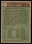 1976 Topps #6   -  Rennie Stennett Record Breaker Back Thumbnail