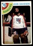 1978 Topps #211  John Davidson  Front Thumbnail