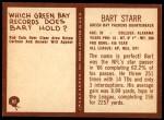 1967 Philadelphia #82  Bart Starr  Back Thumbnail