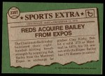 1976 Topps Traded #338 T Bob Bailey  Back Thumbnail