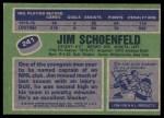 1976 Topps #241  Jim Schoenfeld  Back Thumbnail