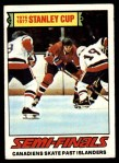 1977 Topps #262   Stanley Cup Semi-Finals - Canadiens Skate Past Islanders Front Thumbnail