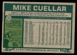 1977 Topps #162  Mike Cuellar  Back Thumbnail