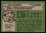 1978 Topps #383  Jim Zorn  Back Thumbnail