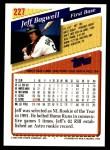 1993 Topps #227  Jeff Bagwell  Back Thumbnail
