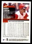 2000 Topps #85  Barry Larkin  Back Thumbnail