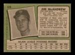 1971 Topps #428  Jim McAndrew  Back Thumbnail