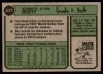 1974 Topps #237  Ken Brett  Back Thumbnail