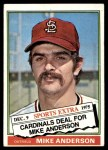 1976 Topps Traded #527 T Mike Anderson  Front Thumbnail