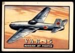 1952 Topps Wings #99   YAK-15 Front Thumbnail