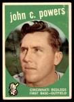 1959 Topps #489  John Powers  Front Thumbnail